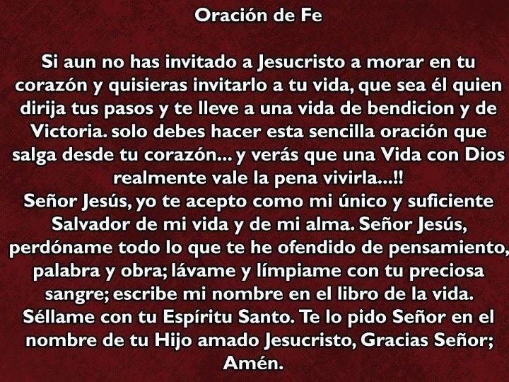 oración de fe